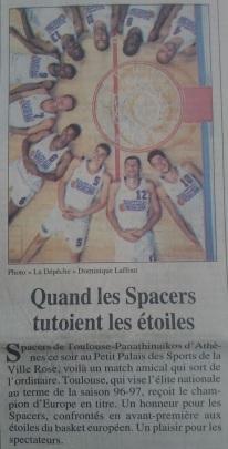 Première page La Dépêche du Midi 23 août 1996