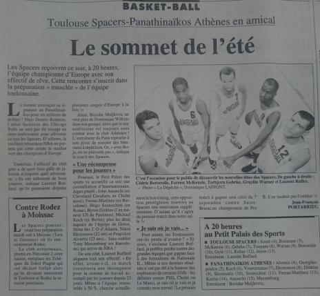 Article La Dépêche du Midi 23 août 1996