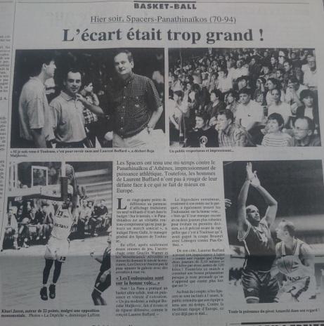 Article La Dépêche du Midi 24 août 1996
