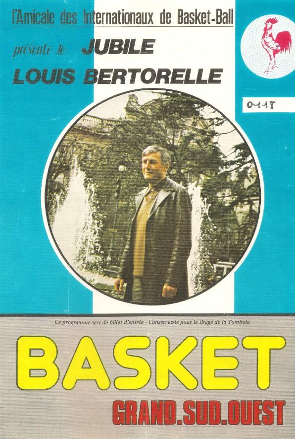 Le programme du jubilé de Louis Bertorelle - 1981