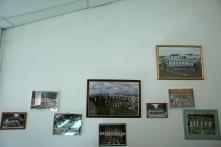Quleques photos d'équipes accrochées au club-house, rappelant le passé glorieux de la Nationale 1