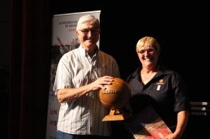 André Souvré et Brigitte Desbois, Présidente de la Ligue des Pyrénées