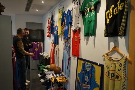 Le mur de maillots catalans