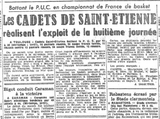 Le CSE Toulouse bat la grande équipe du PUC en première division nationale (1952)